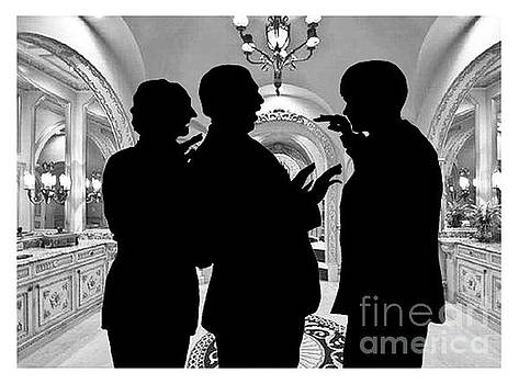 Silhouette  of the Three Stooges by Jim Fitzpatrick