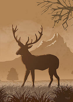 Silhouette Reindeer by Anthony Mwangi