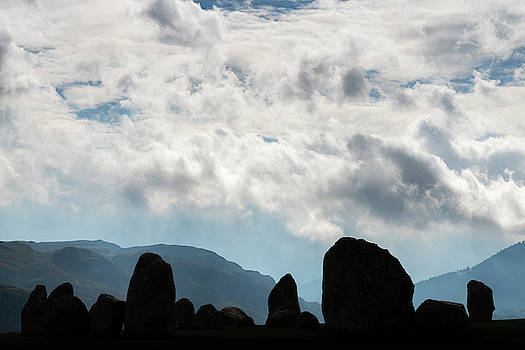 Silhouetted Stone Circle by David Taylor