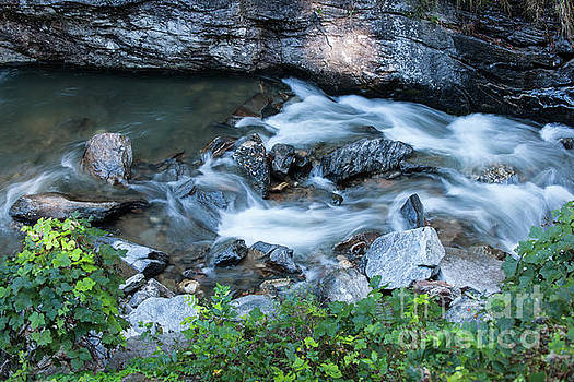 Silky Mountain Water Stream in North Carolina by Dale Powell