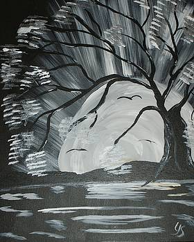 Silver Full Moon by Yvonne Sewell