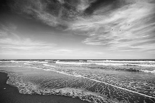 Simple Beach Scene Black and White by Stephanie McDowell