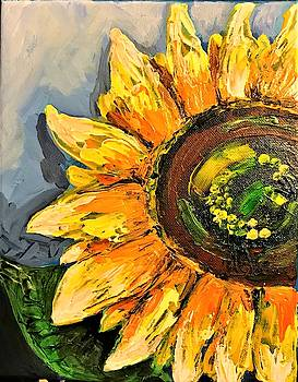 Simple Sunflower by Roseann Amaranto