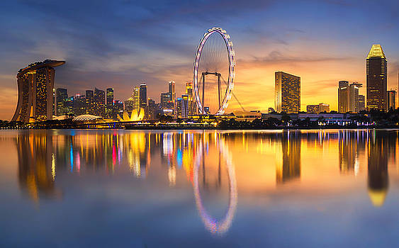 Singapore Skyline. Singapore`s Business by Anek.soowannaphoom