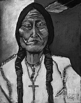 David Hinds - Sitting Bull - Black and White