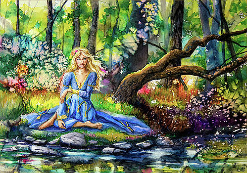 Sitting by the Stream by Patricia Allingham Carlson