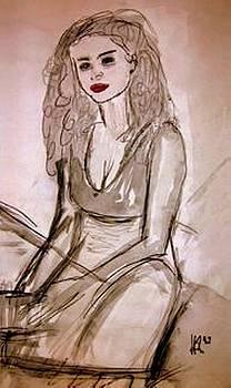 Sitting Girl by Andreas Hoetzel
