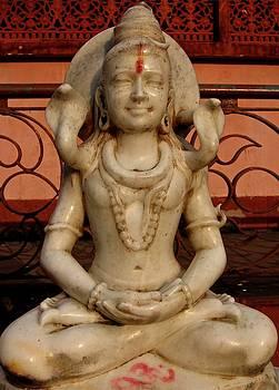 Siva in Padmasana at Kalighat Temple, Kolkata, India by David Wells
