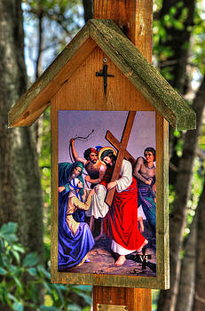 Sixth Station of the Cross - Veronica Wipes the Face of Jesus by Michael Mazaika