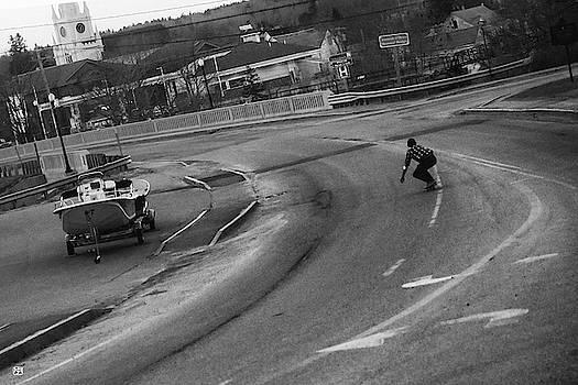 Skate Boarder in Machias by John Meader
