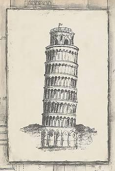 Sketch of Pisa Wall Art by Ethan Harper