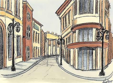 Sketches of Downtown IV Wall Art by Ethan Harper
