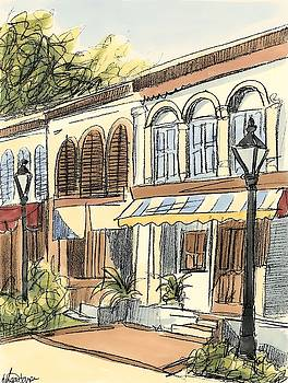 Sketches of Downtown V Wall Art by Ethan Harper