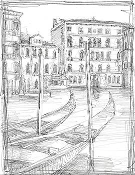 Sketches of Venice III Wall Art by Ethan Harper