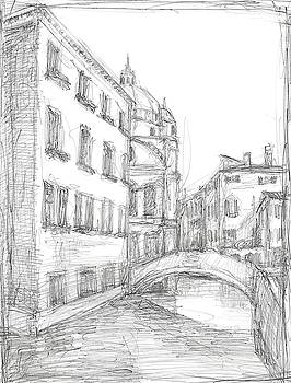 Sketches of Venice IV Wall Art by Ethan Harper