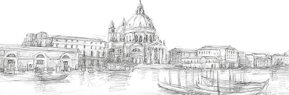 Sketches of Venice V Wall Art by Ethan Harper