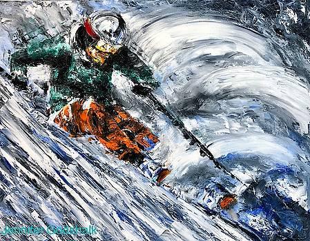 Ski by Jennifer Morrison Godshalk