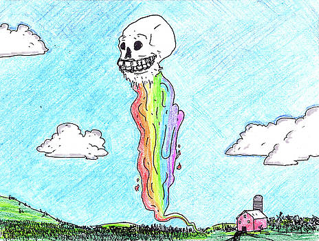 Rainbow Skull in Daylight by Walter Johndad