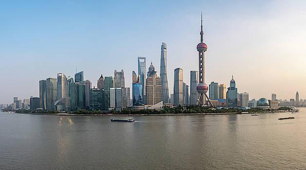 Steven Heap - Skyline of the city of Shanghai at sunset
