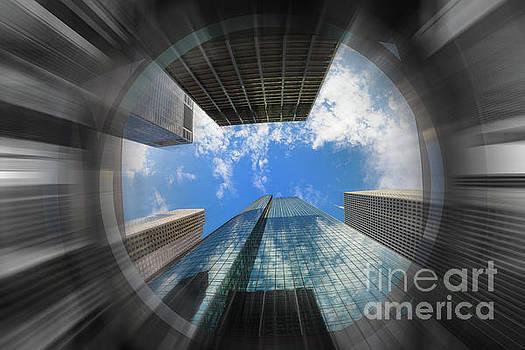 Skyscraper Jungle Blur by Raul Rodriguez