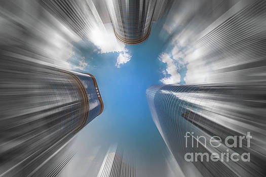 Skyscrapers in Motion II by Raul Rodriguez