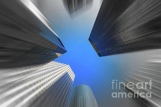 Skyscrapers in Motion III by Raul Rodriguez