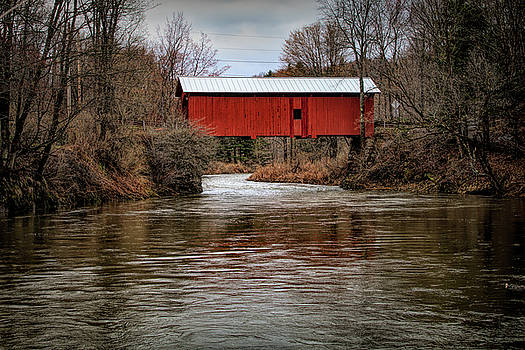 Slaughterhouse Covered Bridge in Spring by Jeff Folger