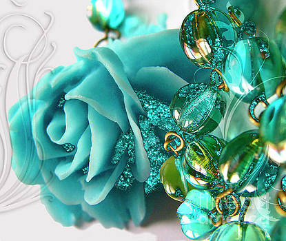 Tina Lavoie - Sleeping Beauty Blue Rose Jewelry Fantasy Art