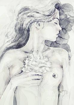 Dimitar Hristov - Sleeping girl with flower
