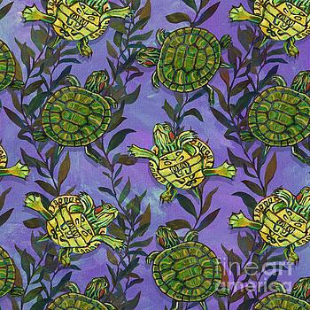 Robert Phelps - Slider Turtle and Seaweed Pattern