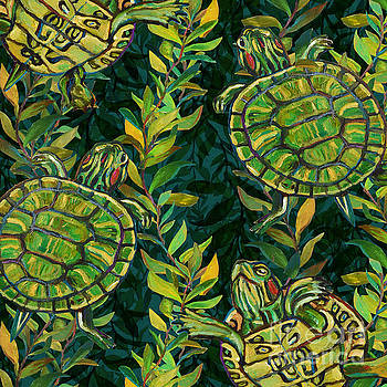 Robert Phelps - Slider Turtles in the Pond Pattern