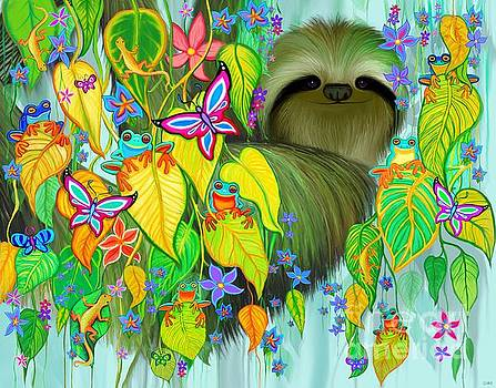 Sloth and Rain Forest Friends by Nick Gustafson