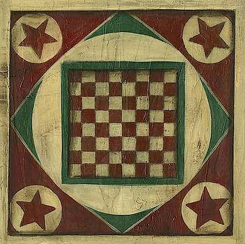Small Antique Checkers Wall Art by Ethan Harper