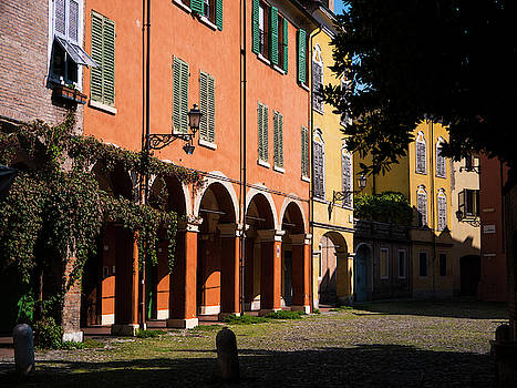 Small Piazza in Modena by Rae Tucker