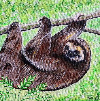 Smiley Sloth by Kirsten Sneath