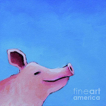 Smiling Pig by Lucia Stewart