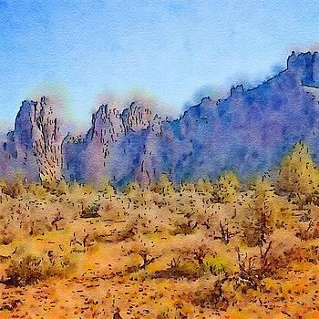 Bonnie Bruno - Smith Rock Watercolor