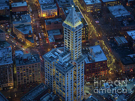 Smith Tower Blue by Mike Reid