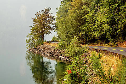 Smoke On Lake Crescent by Bill Gallagher