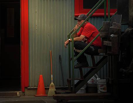 Juan Contreras - Smoker In Red