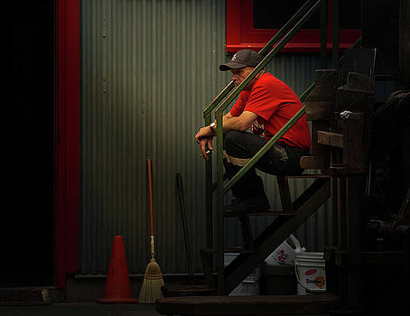 Juan Contreras - Smoker in Red No. 2