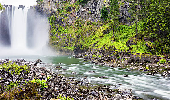 Snoqualmie Falls and River by Jordan Hill