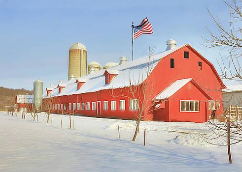 Snow Capped Barn by Sharon Batdorf