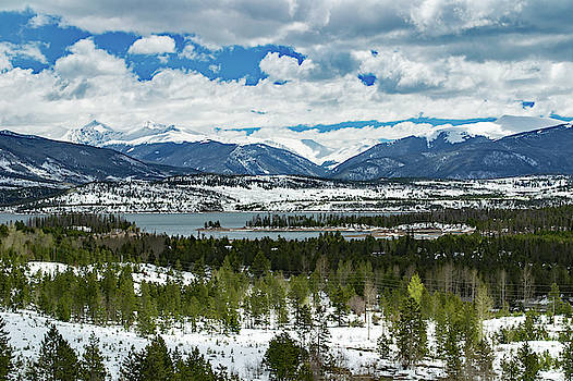 Snow Covered Rockies by Richard Risely
