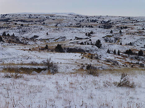 Snow in Slope County by Cris Fulton