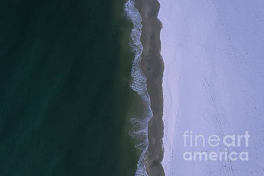 Snow Meets Ocean  by Michael Ver Sprill