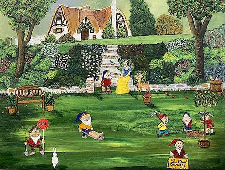 Snow White And The 7 Dwarfs Painting by Martin Dardis