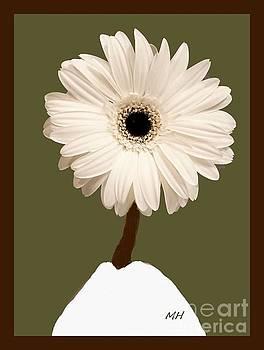 Snow White Gerber by Marsha Heiken