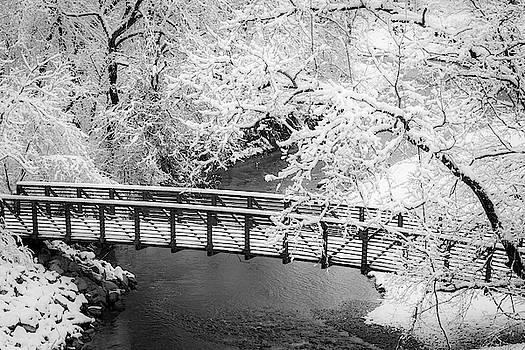 Jeff Phillippi - Snowy Bridge On Mill Creek