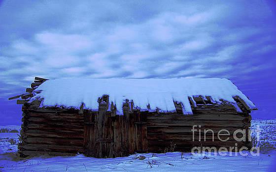 Snowy cabin  by Jeff Swan